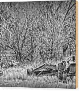 Tractor Days Wood Print