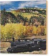 Train At Chama Wood Print