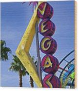 Vegas Sign Wood Print