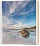 Welsh Coast - Porth Colmon Wood Print