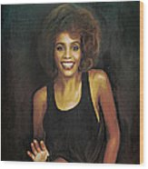Whitney Elizabeth Houston Wood Print