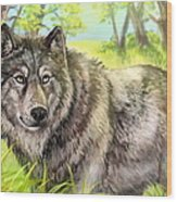 Wolf Summer Wood Print