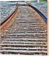 0002 Train Tracks Wood Print