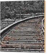 0003 Train Tracks Wood Print