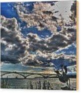 001 Peace Bridge Series II Beautiful Skies Wood Print