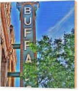 001 Sheas Buffalo Wood Print