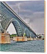 001 Stormy Skies Peace Bridge Series Wood Print