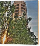 002 Electric Tower At Sunrise  Wood Print