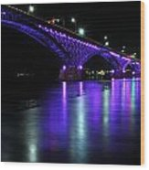 002 Peace Bridge Honoring Breast Cancer 2012 Series Wood Print