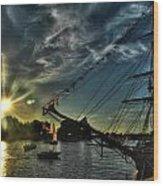 002 Uss Niagara 1813 Series  Wood Print