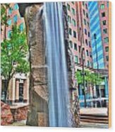 003 Fountain Plaza  Wood Print