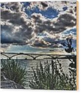 003 Peace Bridge Series II Beautiful Skies Wood Print