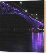 004 Peace Bridge Honoring Breast Cancer 2012 Series Wood Print