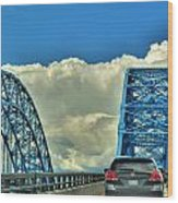 005 Grand Island Bridge Series  Wood Print