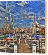 005 On A Summers Day  Erie Basin Marina Summer Series Wood Print