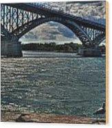 005 Peace Bridge Series II Beautiful Skies Wood Print