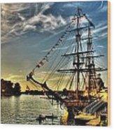 005 Uss Niagara 1813 Series  Wood Print