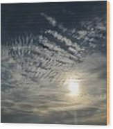 005 When Feeling Down  Pick Your Head Up To The Skies Series Wood Print
