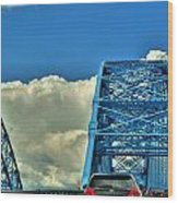 006 Grand Island Bridge Series Wood Print