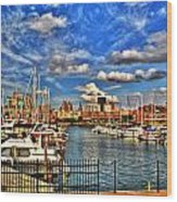 006 On A Summers Day  Erie Basin Marina Summer Series Wood Print