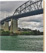 006 Stormy Skies Peace Bridge Series Wood Print