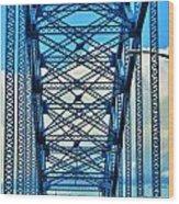 007 Grand Island Bridge Series  Wood Print