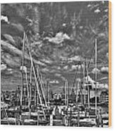 007bw On A Summers Day  Erie Basin Marina Summer Series Wood Print
