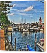 008 On A Summers Day  Erie Basin Marina Summer Series Wood Print