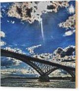 008 Peace Bridge Series II Beautiful Skies Wood Print