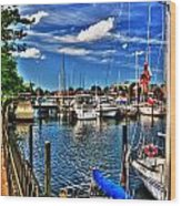 009 On A Summers Day  Erie Basin Marina Summer Series Wood Print