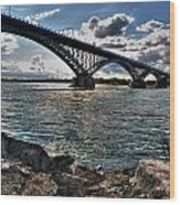 009  Peace Bridge Series II Beautiful Skies Wood Print