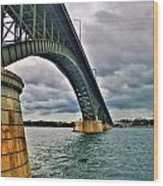 009 Stormy Skies Peace Bridge Series Wood Print