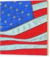 01 American Flag Wood Print