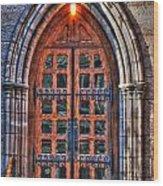 01 Church Doors Wood Print