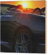01 Ferrari Sunset Wood Print
