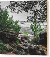 01 Three Sisters Island Wood Print