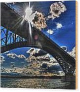 010  Peace Bridge Series II Beautiful Skies Wood Print