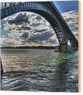013 Peace Bridge Series II Beautiful Skies Wood Print