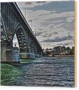 014 Peace Bridge Series II Beautiful Skies Wood Print