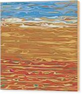 0145 Abstract Landscape Wood Print