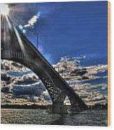 016 Peace Bridge Series II Beautiful Skies Wood Print