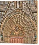02 Church Doors Wood Print