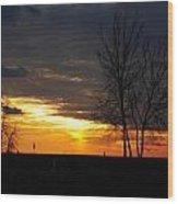 02 Sunset Wood Print