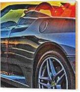 03 Ferrari Sunset Wood Print