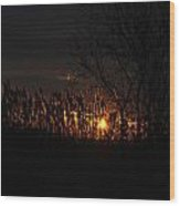 03 Sunset Wood Print