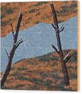 0361 Abstract Landscape Wood Print