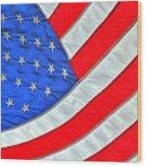 05 American Flag Wood Print