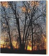 07 Sunset Wood Print