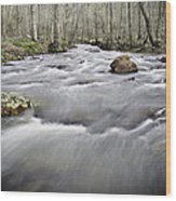 0804-0122 Rolling Creek Of The Ozark Mountains Wood Print