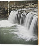 0805-005b Falling Water Falls 2 Wood Print by Randy Forrester